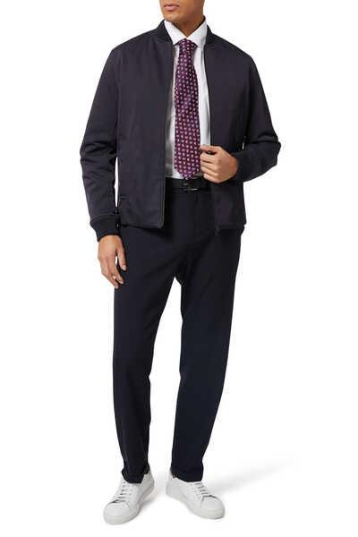 ربطة عنق بنقشة بيزلي بارزة الملمس