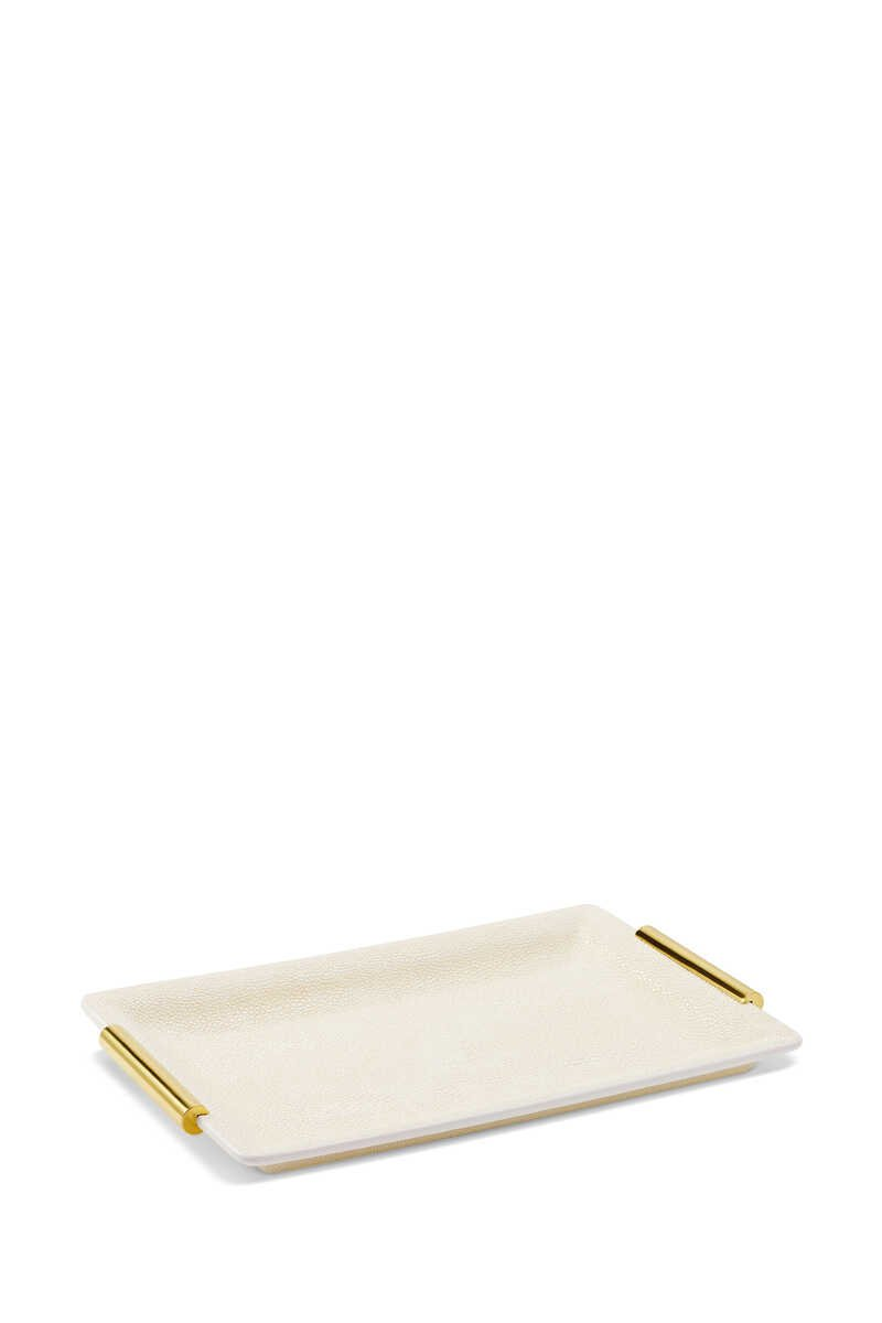 AE Shagreen Vanity Small Tray:Multi Colour:One Size image number 4