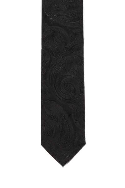 ربطة عنق توكسيدو بنقشة بيزلي لامعة