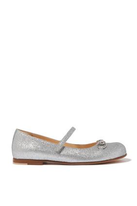 حذاء باليرينا بغليتر وحلية لجام