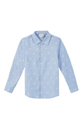 قميص أكسفورد بنقشة نحل