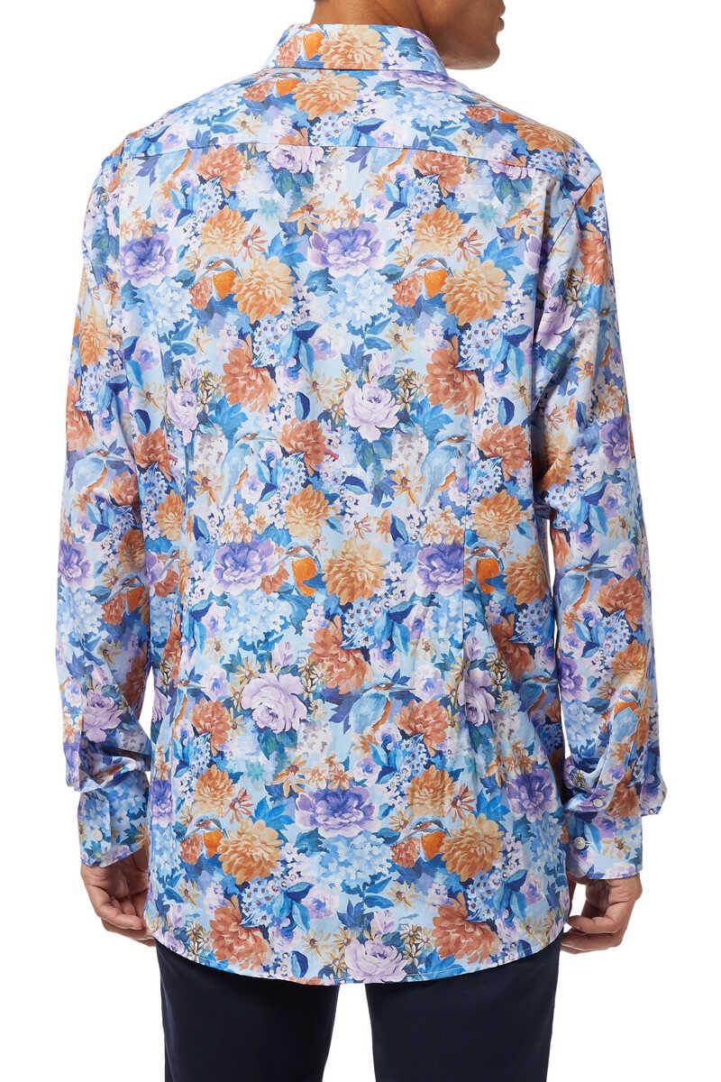 قميص تويل بنقشة زهور image number 3