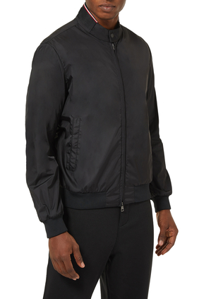 REPPE EMBEDDED MONCLER ON NECK COLLAR NYLON JACKET:BLK:1