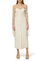 فستان هيذر متوسط الطول