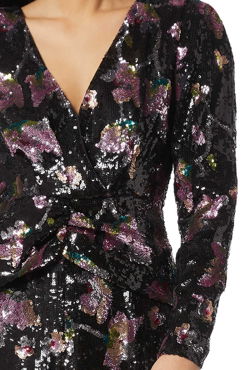 MIDNIGHT BLOOM DRESS:Multi Colour:8 image number 4