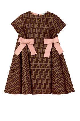 فستان بنقشة شعار FF وعقدتين