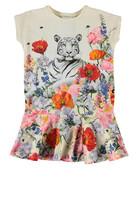 فستان بنقشة نمر وزهور