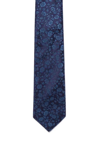 ربطة عنق بنقشة زهور بارزة الملمس