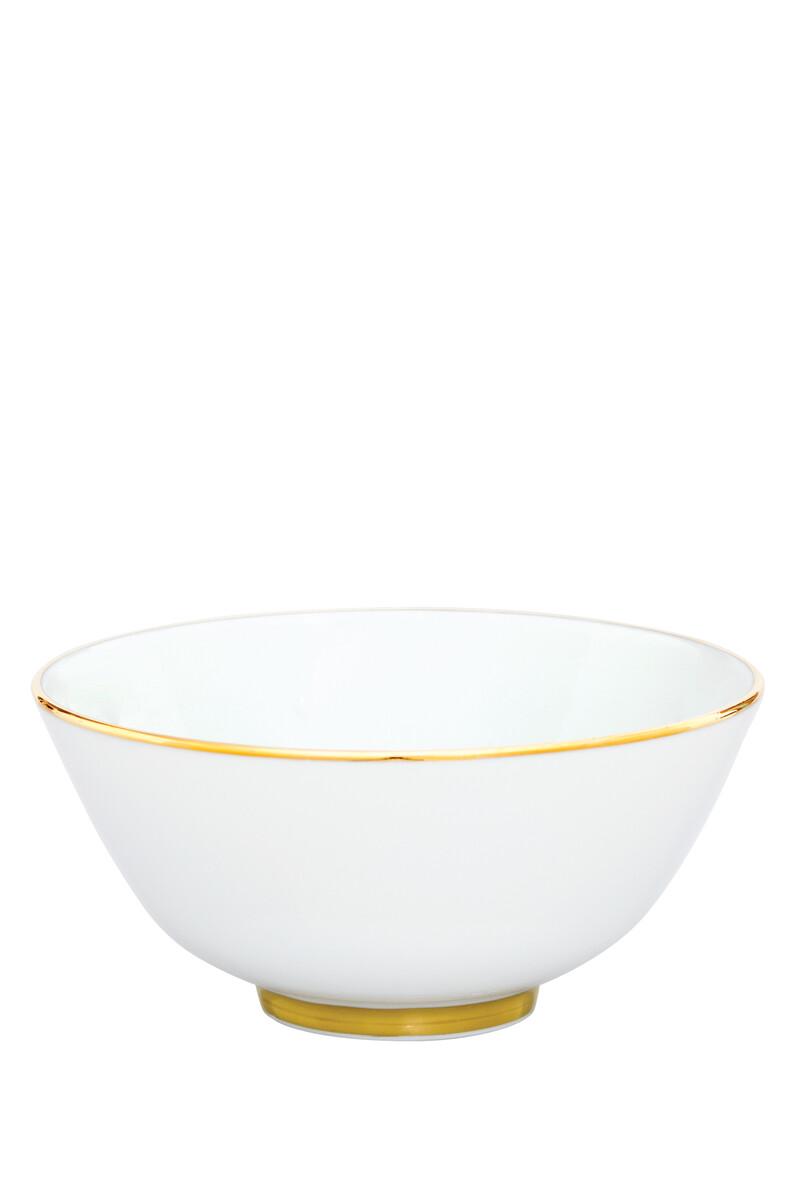 وعاء بحافة ذهبية اللون image number 1