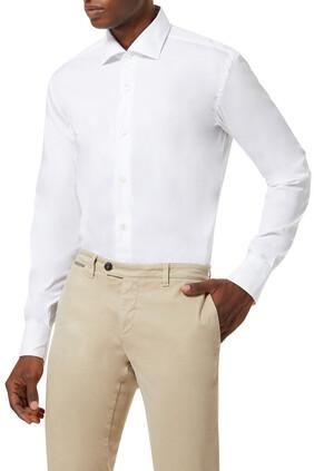 قميص بياقة مفرودة