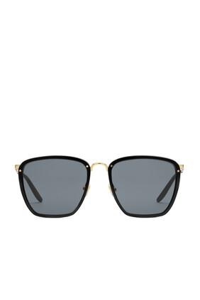 نظارة شمسية بإطار مربع من أسيتات ومعدن