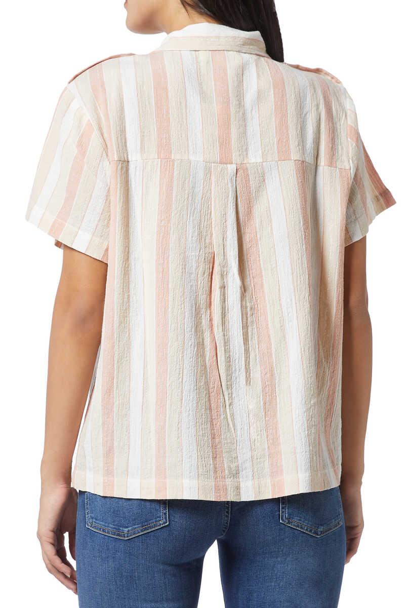 قميص يومي لوركس مخطط image number 3