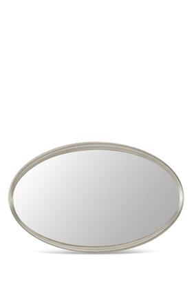 مرآة بيضاوية صغيرة