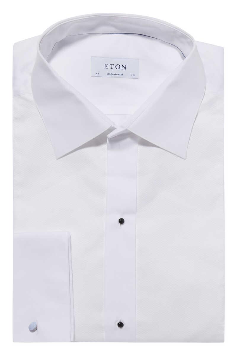 قميص تويل بارز الملمس image number 1