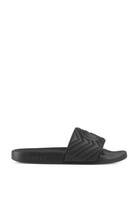 حذاء مفتوح مطاط بتصميم مبطن