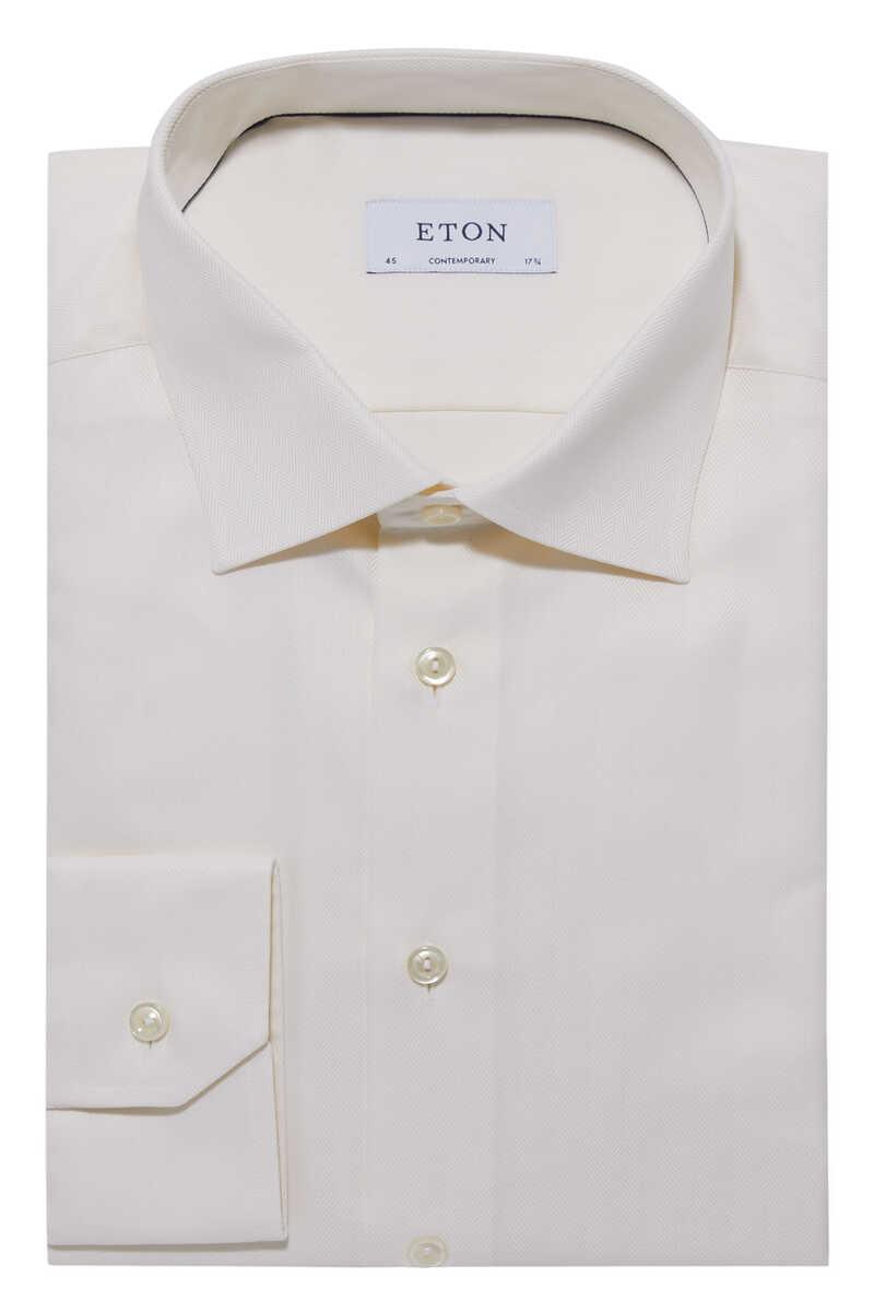 قميص بقصة عصرية ونقشة هيرنغ بون image number 5