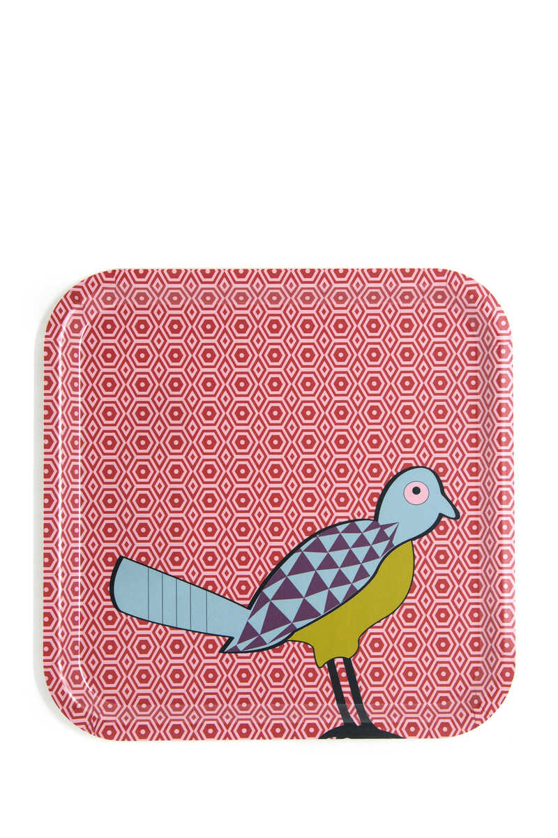 IDO Square Tray Birds of Paradise:Multi Colour:One Size image number 1