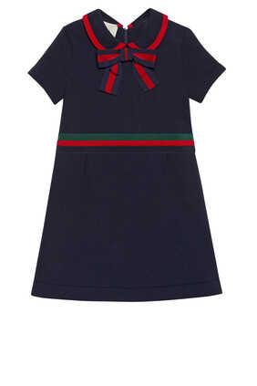 فستان قطن ناعم مزين بعقدة
