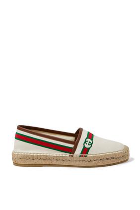 حذاء إسبادريل مطرز بشعار الماركة