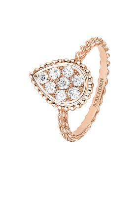 RING SERPENT BOHEME P GOLD M MOTIF PAVED:Pink gold:52