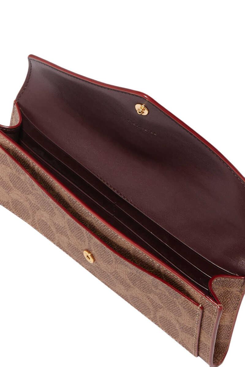 محفظة ناعمة مزينة بشعار الماركة مقسمة بألوان image number 3