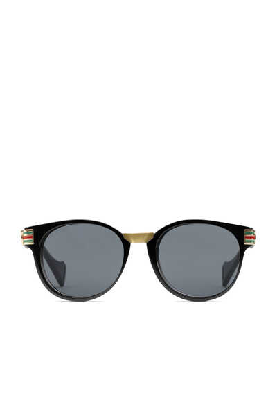 نظارة شمسية بإطار دائري من أسيتات ومعدن
