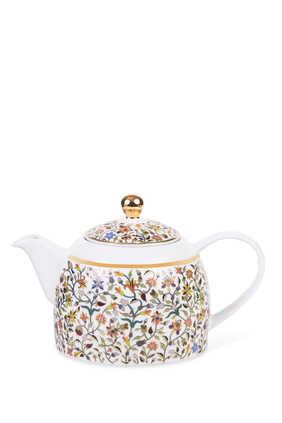 إبريق شاي بنقشة زهور