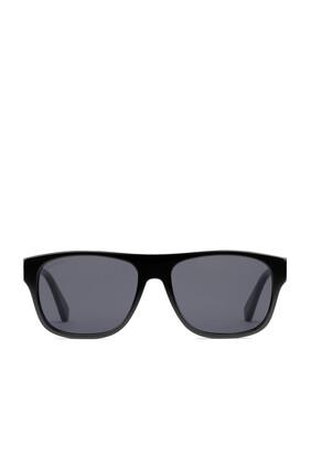 نظارة شمسية بإطار مستطيل أسيتات