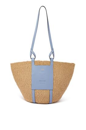 حقيبة كبيرة منسوجة بتصميم سلة من ورق معتمد من منظمة التجارة العادلة العالمية