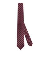 ربطة عنق حرير بنقشة معينات بحرفي GG